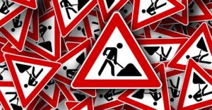 Shoveling Street Signs